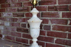 Old Solid Alabaster Lamp