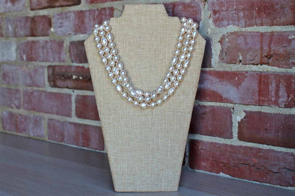 Long Faux Pearl Opera Length Necklace