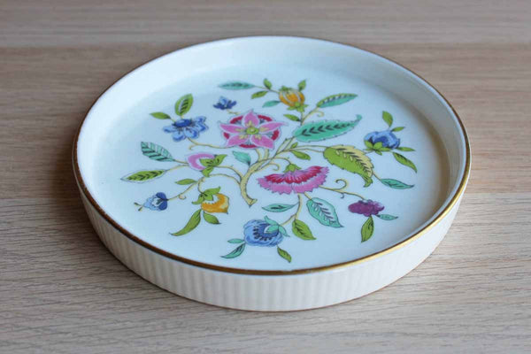 Minton (England) Haddon Hall Bone China Round Dish with Floral Chintz