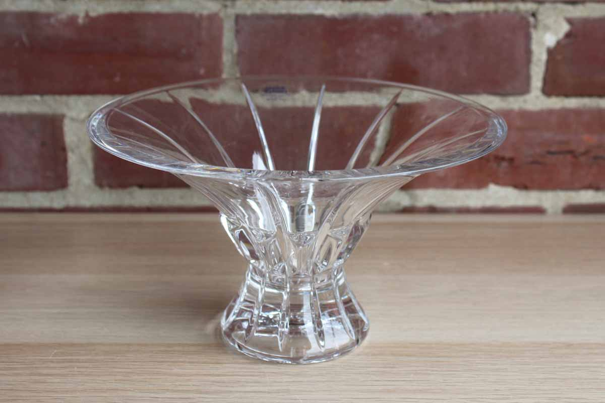 Royal Limited (Czech Republic) 24% Lead Crystal Pedestal Bowl with Flared Rim