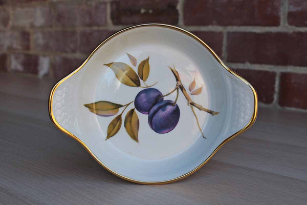 Royal Worcester (England) Evesham Gold Small Rimmed Baking or Serving Dish