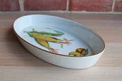 Royal Worcester (England) Evesham Gold Trimmed Oval Baking Dish