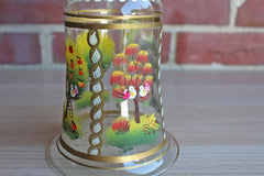 Four Seasons Hand Painted Glass Cloche