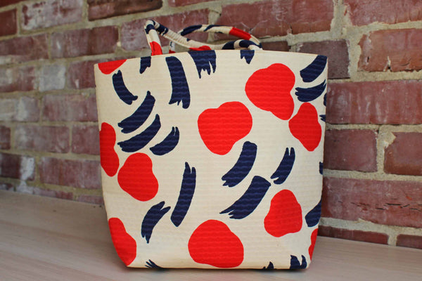 Margaret Smith (Gardiner, Maine, USA) Handmade Lined Shopper Bag with Abstract Fruit Design
