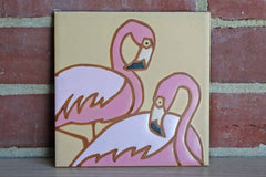 Pink Flamingos Ceramic Tile