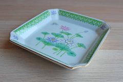 Otagiri (Japan) Ceramic Lotus Garden Trinket Dish