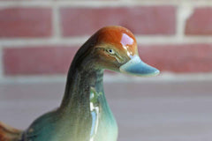 Ceramic Richly Glazed Duck Figurine