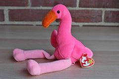 Ty, Inc. (Illinois, USA) 1995 Pinky the Flamingo Beanie Baby