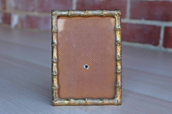 Gold Tone Metal Bamboo Picture Frame