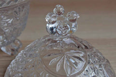 Hofbauer (Germany) 24% Lead Crystal Candy Box with Lid Decorated with Birds