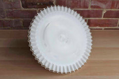 Fenton Art Glass (West Virginia, USA) Silver Crest Glass Cake Stand