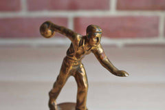 Heavy Cast Metal Bowling Trophy Topper