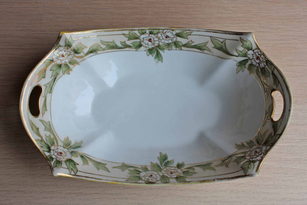 Morimura Brothers (Japan) Hand Painted Porcelain Bowl Decorated with White Flowers