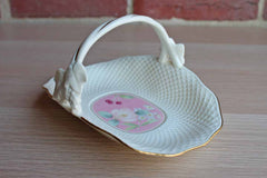Mikasa (Narumi, Japan) Botanica Pink Ivory Bone China Basket