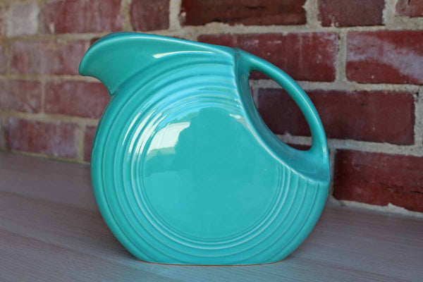 Fiestaware by Homer Laughlin China Company (West Virginia, USA) 64 Oz. Turquoise Disc Pitcher