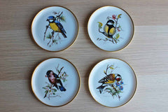 Kaiser (West Germany) Small Porcelain Bird Plates, Set of 4