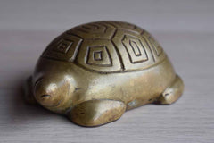 Old Brass Turtle Paperweight