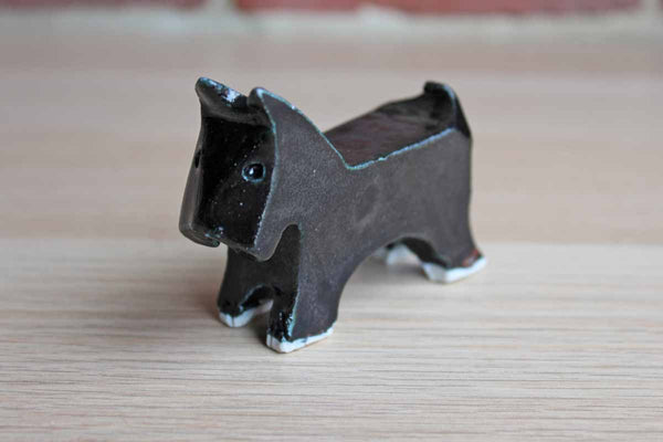 Art Deco Style Hand Made Ceramic Terrier Figurine
