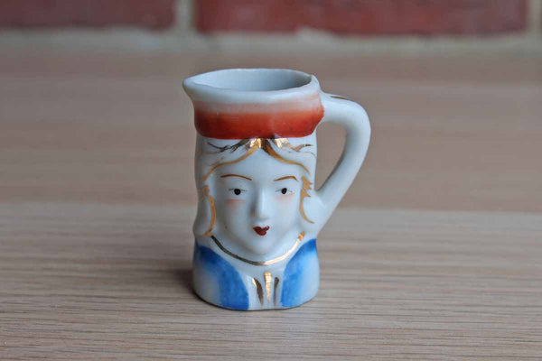 PICO (Occupied Japan) Tiny Handled Porcelain Creamer or Toothpick Holder