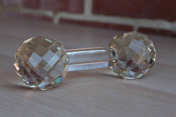 Cut Crystal Baby Rattle