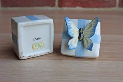 Shafford (Japan) Poreclain Butterfly Trinket Box