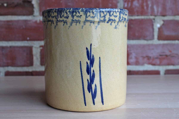 Robinson Ransbottom (Ohio, USA) 2 Quart High Jar with Blue Stenciled Wheat Sprig