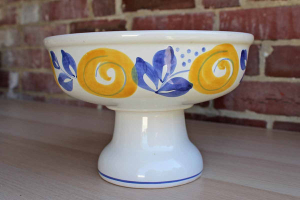 Elster Keramik (Germany) Ceramic Stand with Yellow and Blue Flowers