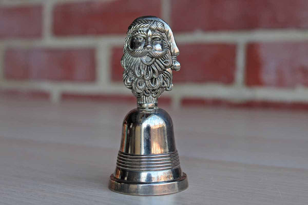 Little Silverplated Santa Claus Bell