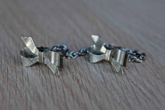 Silver Tone Metal Sweater Clip with Bows