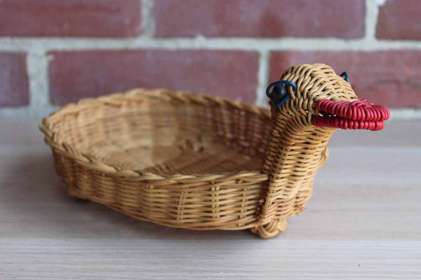 Hand Woven Duck Serving Basket