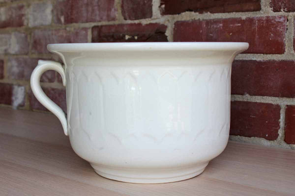 Anchor Pottery ? (Trenton, NJ) Large White Handled Ceramic Bowl