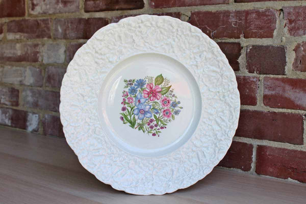 Royal Cauldon Bristol Ironstone (England) Woodstock Platter with Pink and Purple Flowers