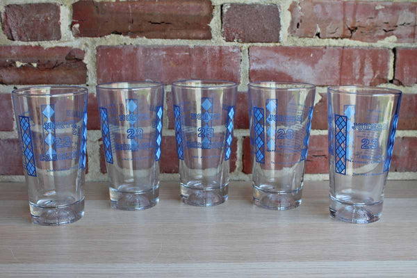 "The University of North Carolina ""Jordan 23"" Pint Glasses, Set of 5"