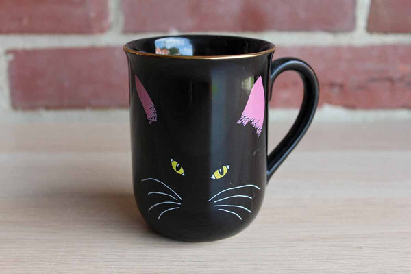 Otagiri (Japan) Cheryl Fleischer Decorated Black Cat Mug