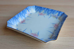 Otagiri Mercantile Company (Japan) Square Tray with Iris Flowers and Gold Trim
