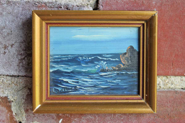 Miniature Original Oil Painting of the Ocean