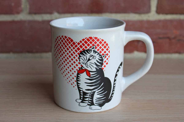 Cat with Heart Novelty Mug