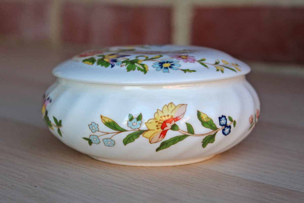 Aynsley (England) Cottage Garden Bone China Lidded Box