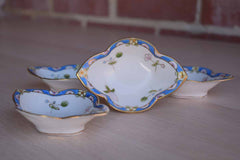 Morimura Brothers (Japan) Hand Painted Porcelain Butter or Candy Dishes