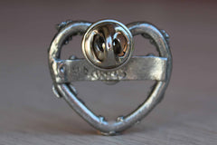 H. Adams Heart-Shaped Pewter