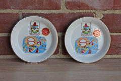 Prince William Ware (England) Bermuda Souvenir Dishes, A Pair