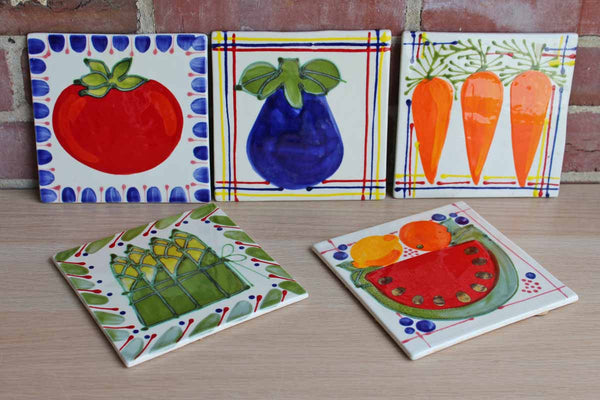 Colorful Vegetables Tiles/Trivets