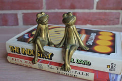 Solid Brass Sitting Frogs