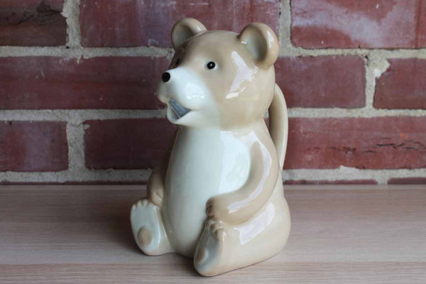 Ceramic Drink Pitcher Shaped Like A Bear