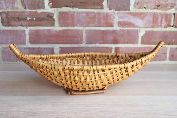 Hand Woven Canoe Shaped Basket