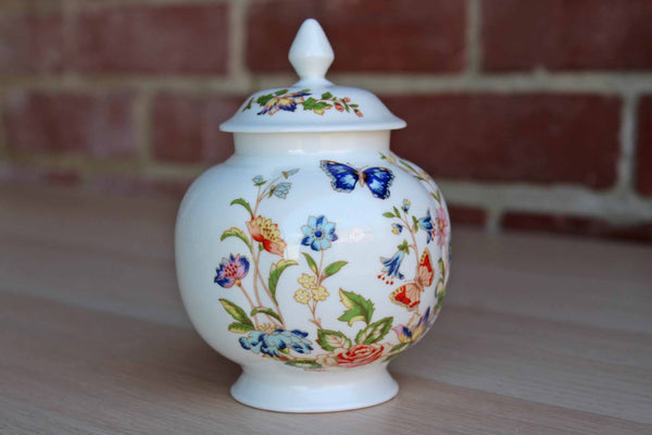 "Aynsley (England) Bone China ""Cottage Garden"" Lidded Urn"