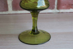 Empoli (Italy) Hand Blown Avocado Green Vase
