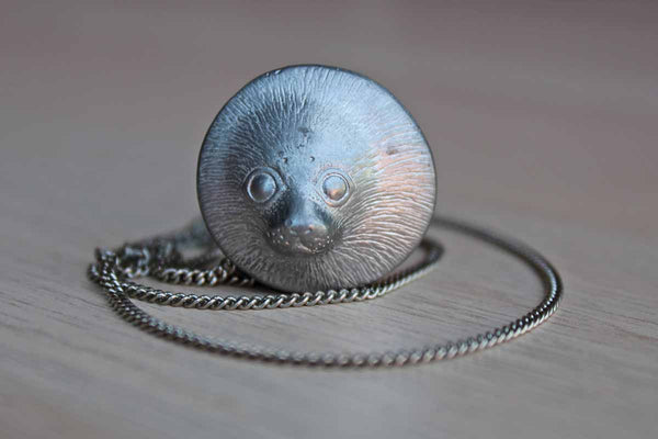 Silver Necklace with Baby Seal Charm