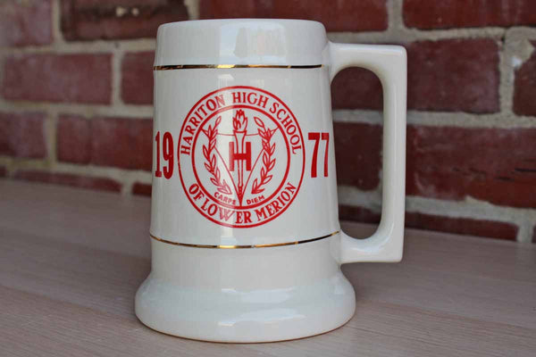 Griffith Pottery (Pennsylvania, USA) 1977 Harriton High School Commemorative Handled Mug