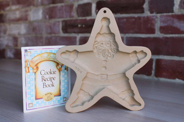 Brown Bag Cookie Art (New Hampshire, USA) 1994 Limited Edition Santa Claus Stoneware Cookie Mold